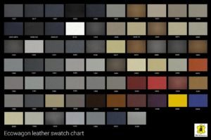 VW Leather Seat Colour Swatches