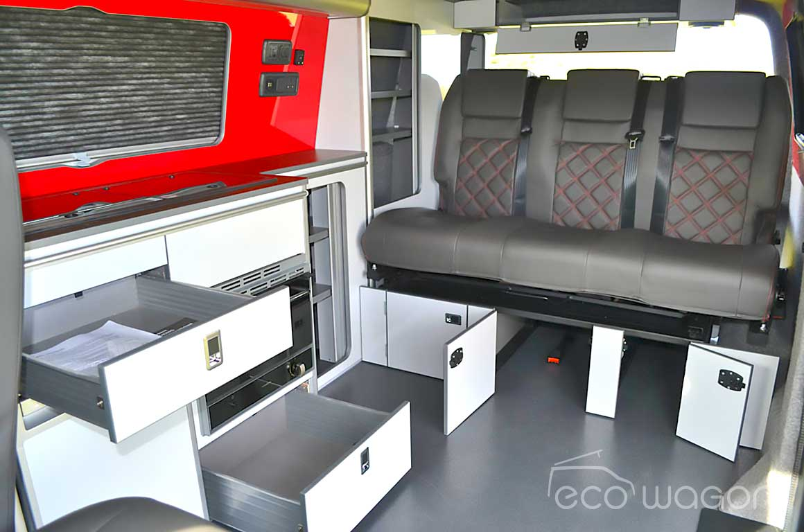 Ecowagon Slim 6 VW Campervan Interior