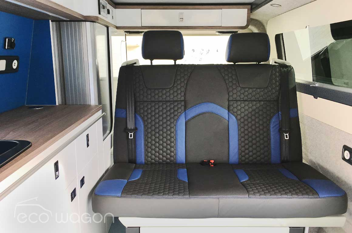 Expo Plus VW conversion custom rear leather seats