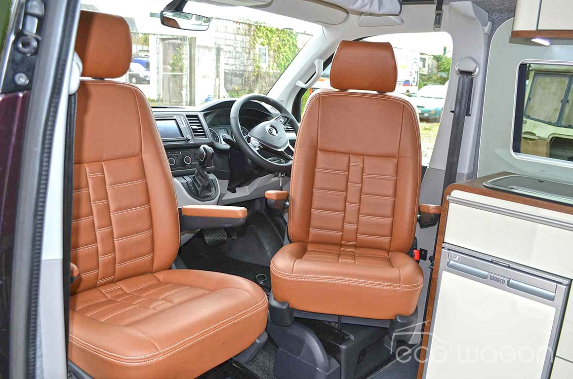 VW T5 leather swivel seats