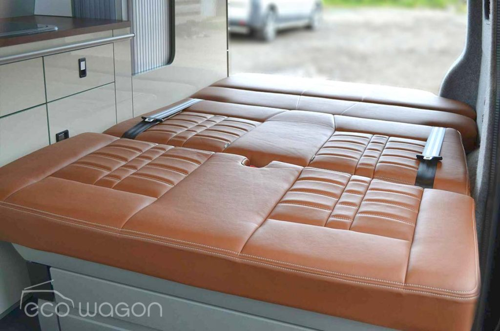 VW T6 Leather Bed