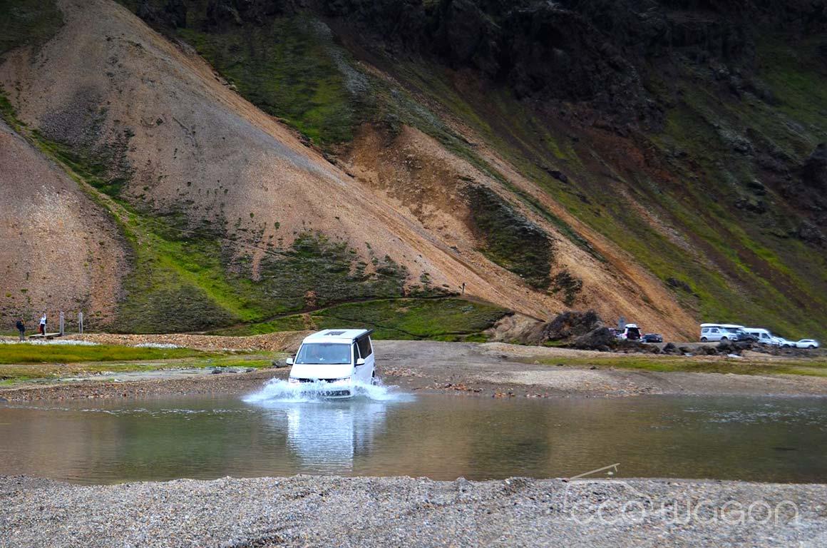 VW Transporter Conversion lake challenge