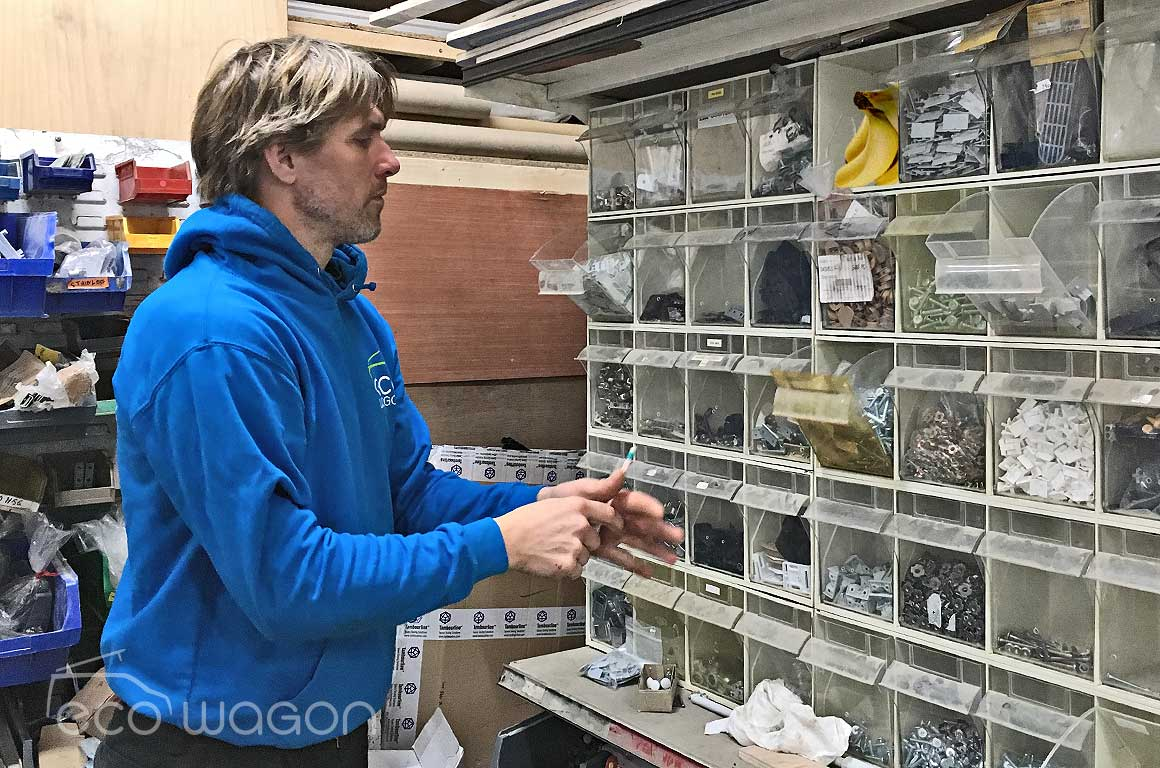 John selecting fittings