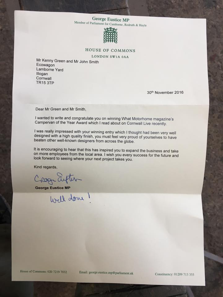 Letter from George Eustace MP