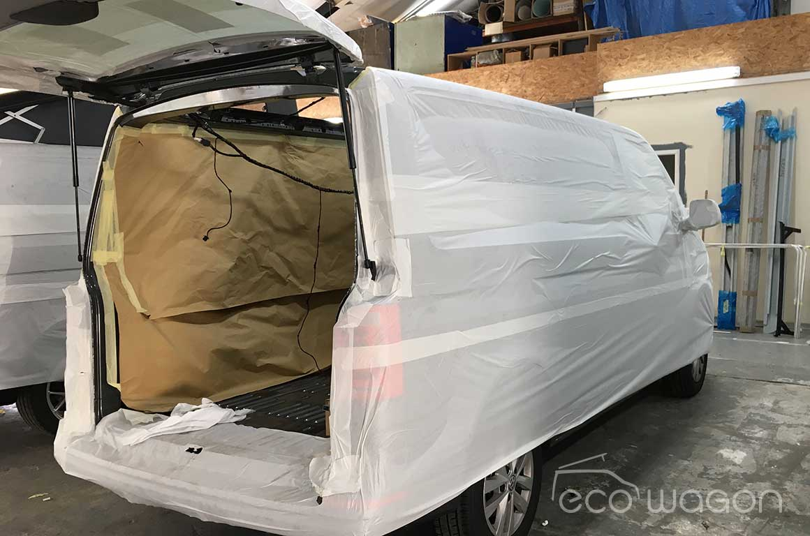 Masking and protecting your VW T6