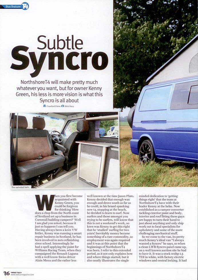 VW Bus Issue 32 Northshore T4 Synchro