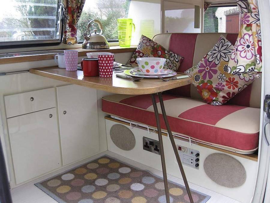 VW T2 campervan conversion interior