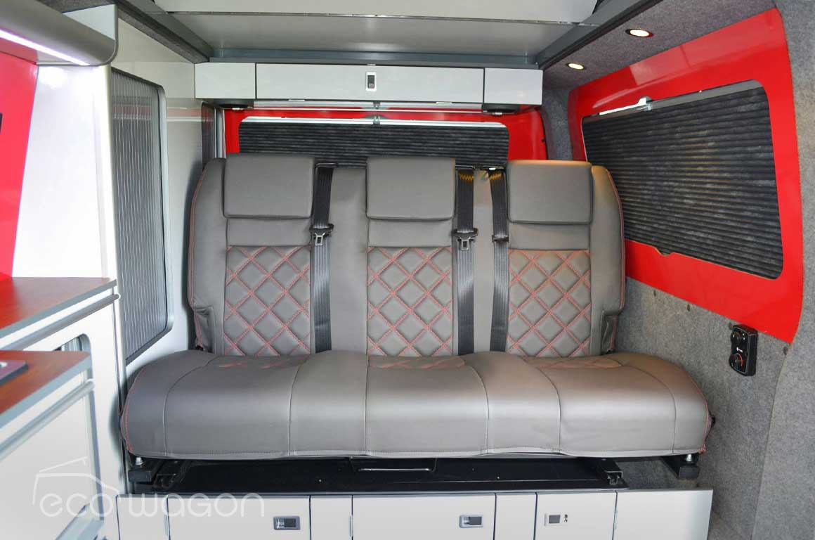 VW T6 3 rear seats