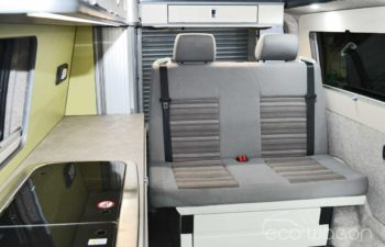 VW T6 Conversion With Green And White Interior