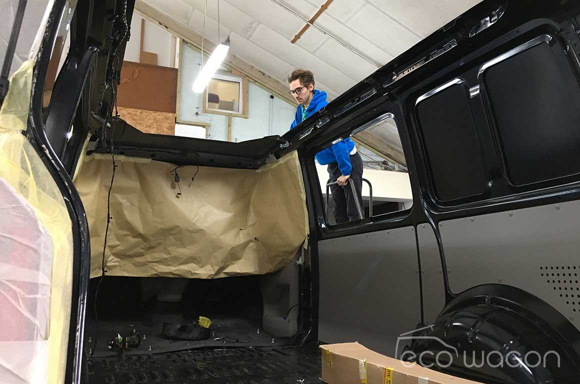 VW T6 during strip down process