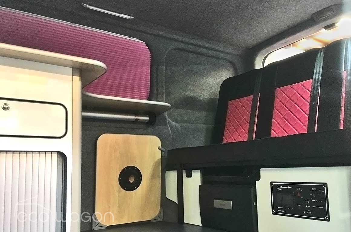 VW Transporter Pink Leather