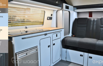 VW Transporter Blue Cream Interior