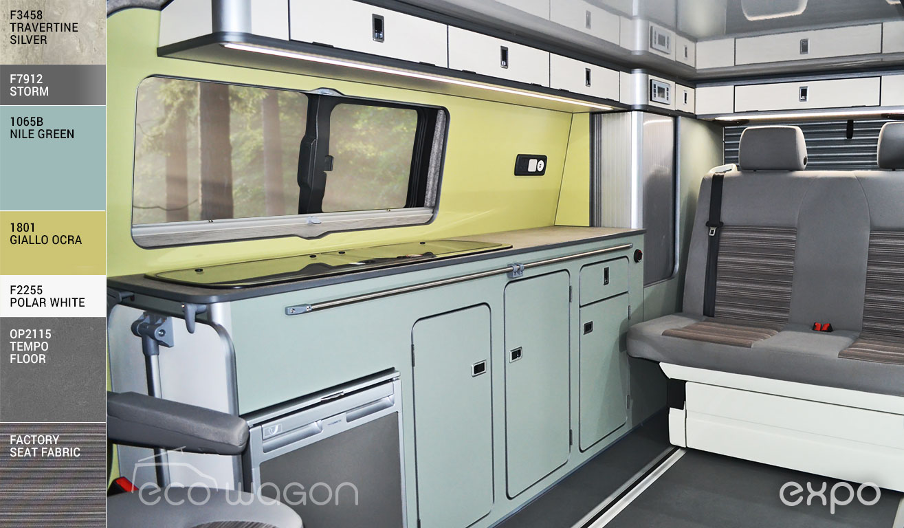 VW Transporter Pastel Greens Interior