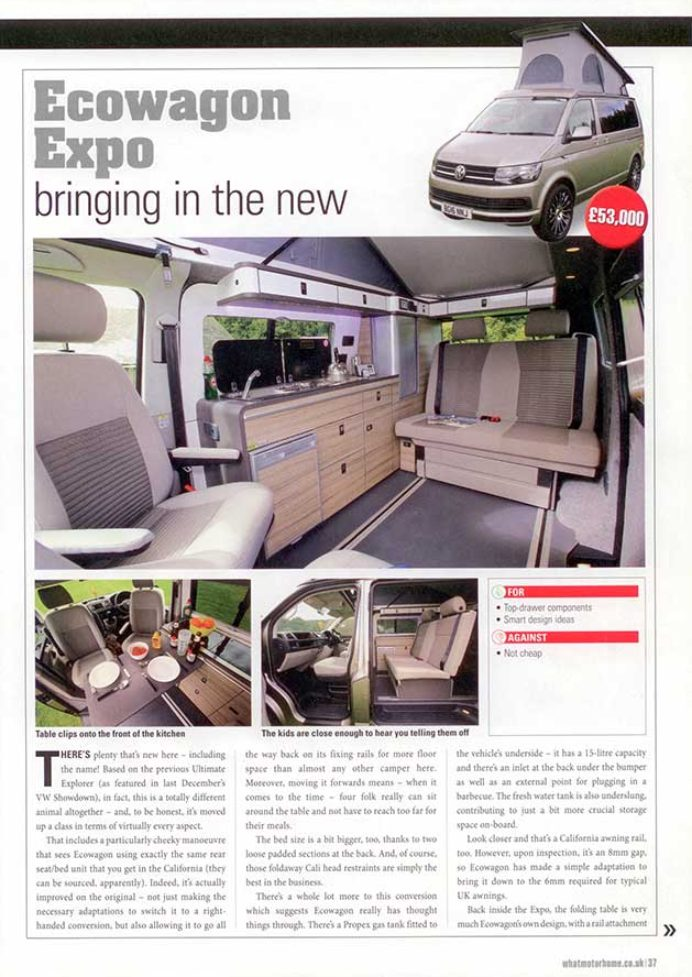 What Motorhome January 2017 Ecowagon Expo Plus