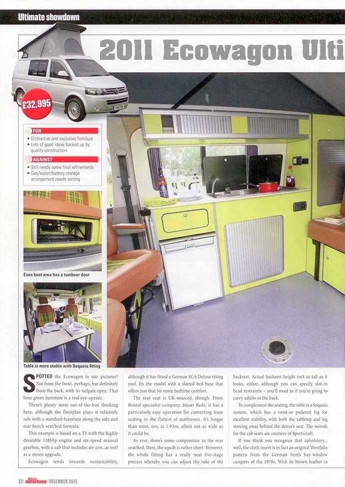 Which Motorhome December 2015 Ecowagon Ultimate Explorer