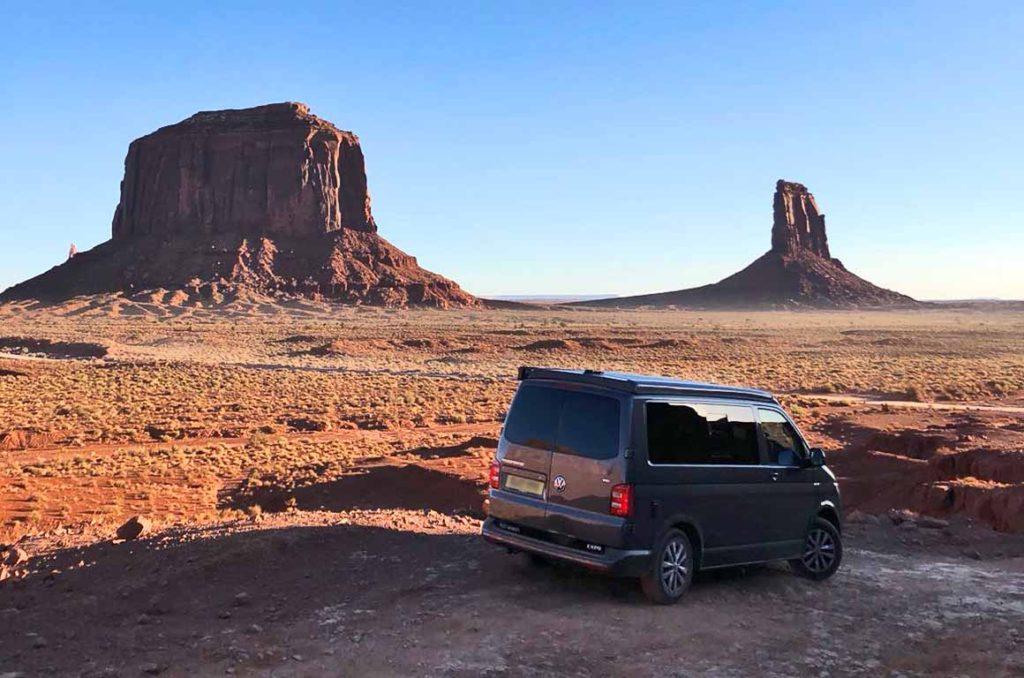 Camper Van In Desert
