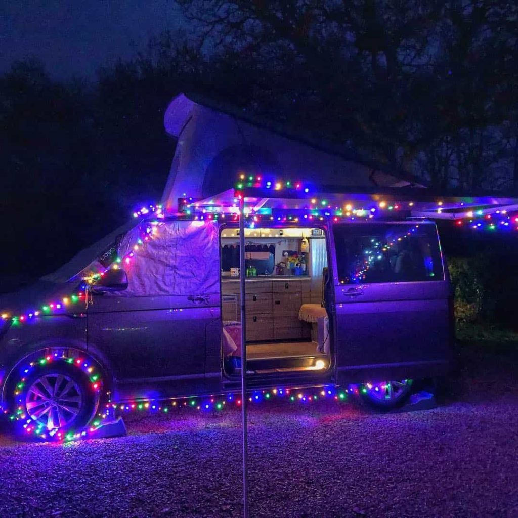 Christmas in a VW campervan