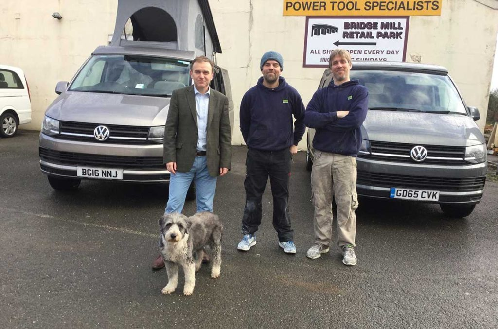 George Eustace Visits Ecowagaon Vw Conversions Cornwall