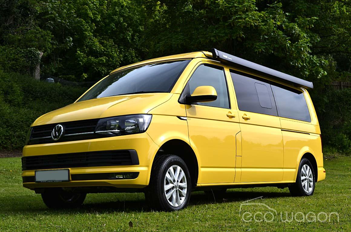 Yellow VW T6 Conversion