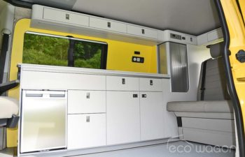 Yellow White VW T6 Interior
