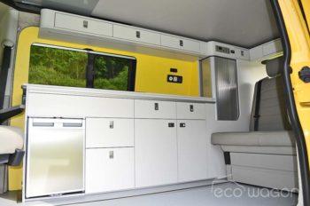 Yellow White VW T6 Interior