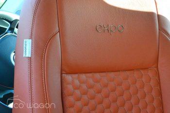 VW Transporter Orange Leather