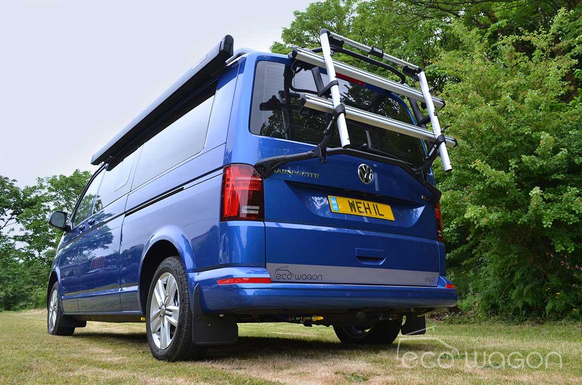 Ecowagon Campervan Conversion Blue Rear