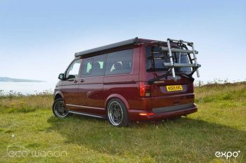 Touring in a Fully Loaded Volkswagen Camper in Fortuna Red