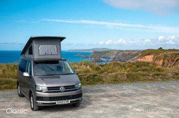 Volkswagen Camper by the Sea