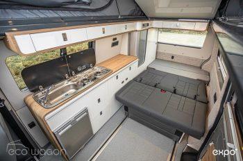 Leather And Wood Camper Van Interior
