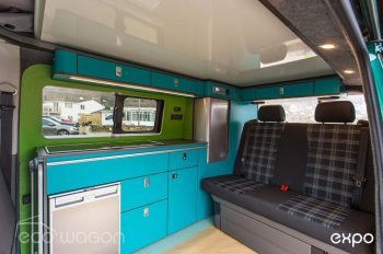 Volkswagen T6 Conversion Blue And Green Interior 1