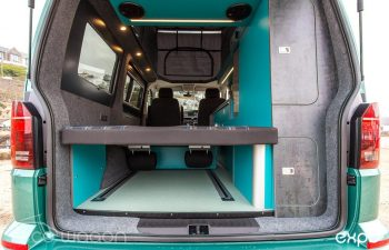 Volkswagen T6 Conversion Blue And Green Interior 10