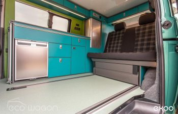 Volkswagen T6 Conversion Blue And Green Interior 2