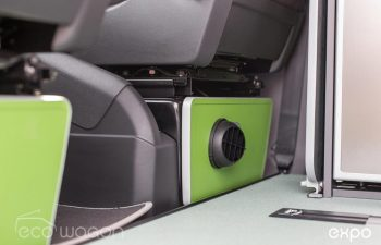 Volkswagen T6 Conversion Blue And Green Interior 21
