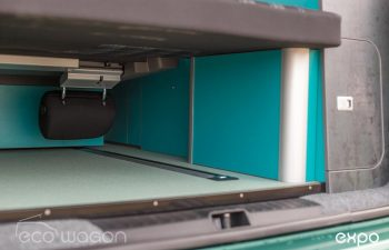 Volkswagen T6 Conversion Blue And Green Interior 25