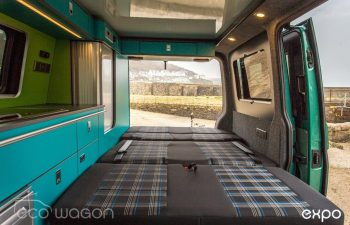 Volkswagen T6 Conversion Blue And Green Interior 3