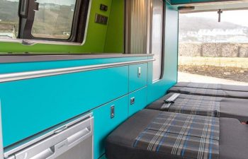 Volkswagen T6 Conversion Blue And Green Interior 4