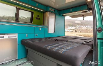 Volkswagen T6 Conversion Blue And Green Interior 5