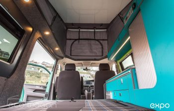 Volkswagen T6 Conversion Blue And Green Interior 6
