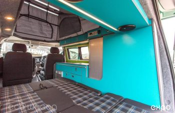 Volkswagen T6 Conversion Blue And Green Interior 8
