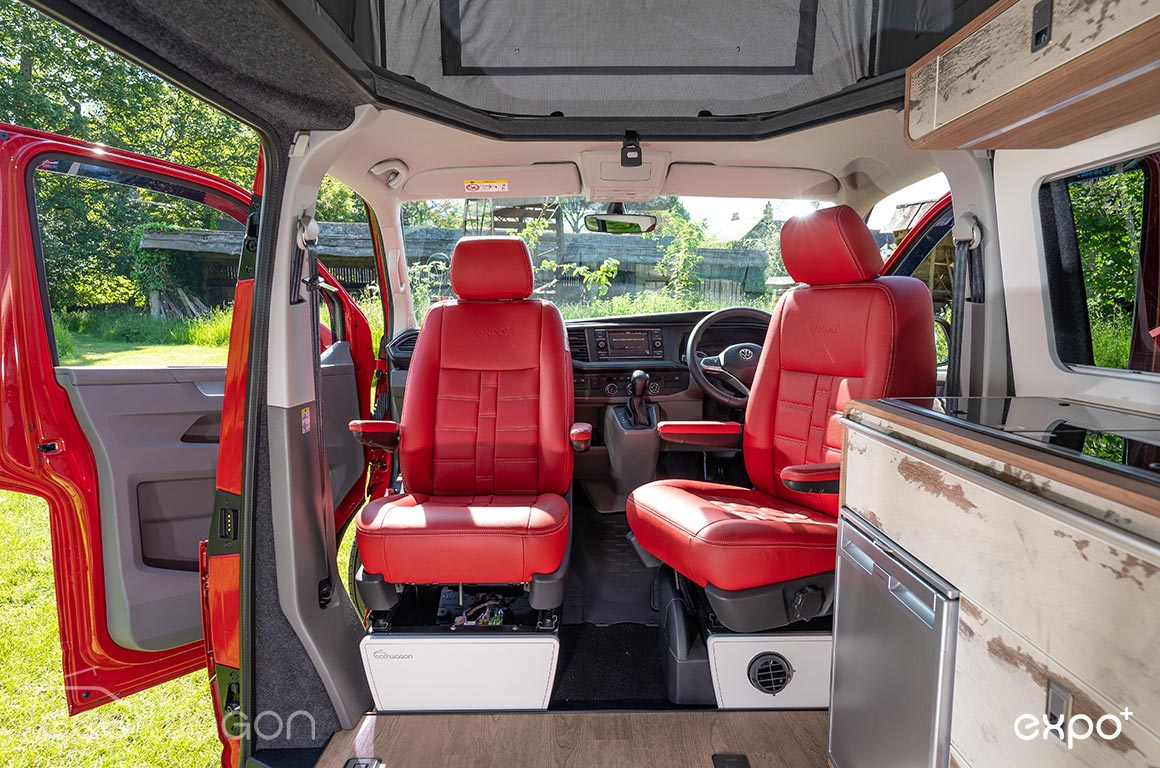 T6.1 Red Leather Swivel Seats