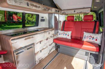 Volkswagen T6 Interior Red Leather