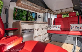 Volkswagen T6 Red Leather Seats